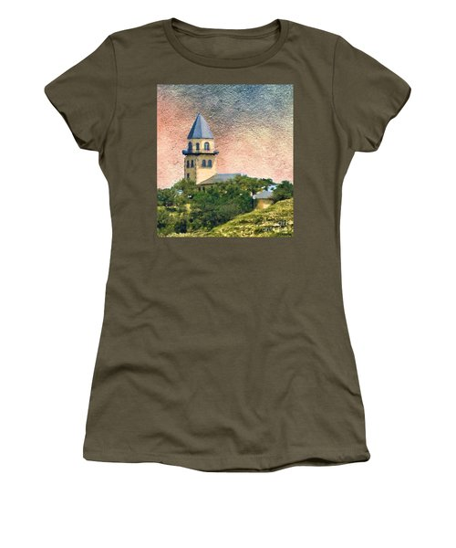 Church On Hill Women's T-Shirt (Junior Cut) by Janette Boyd