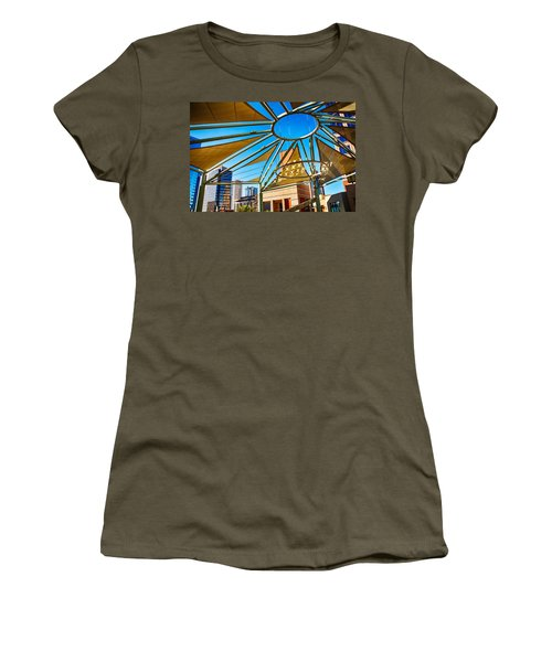 City Shapes Women's T-Shirt (Junior Cut) by Fred Larson