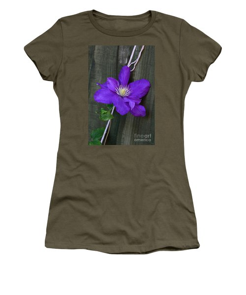 Clematis On A String Women's T-Shirt