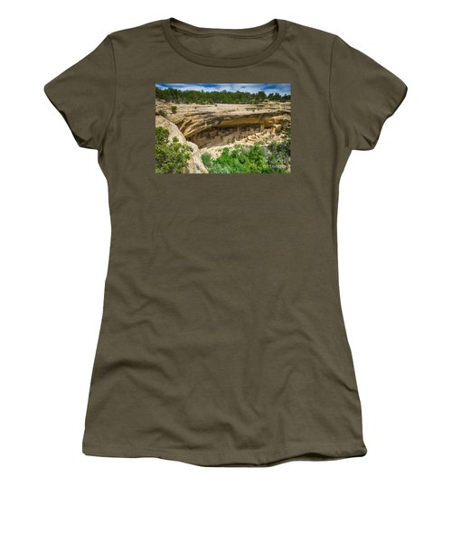 Women's T-Shirt (Junior Cut) featuring the photograph Cliff Palace by Juergen Klust