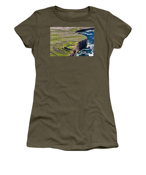 Women's T-Shirt (Junior Cut) featuring the photograph Cliffs Of Inishmoore by Juergen Klust