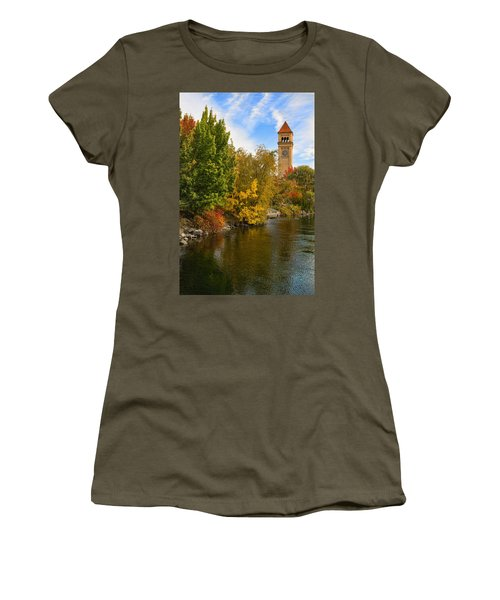 Clocktower In Fall Women's T-Shirt (Athletic Fit)