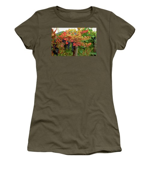 Close-up Of Cabernet Sauvignon Grapes Women's T-Shirt