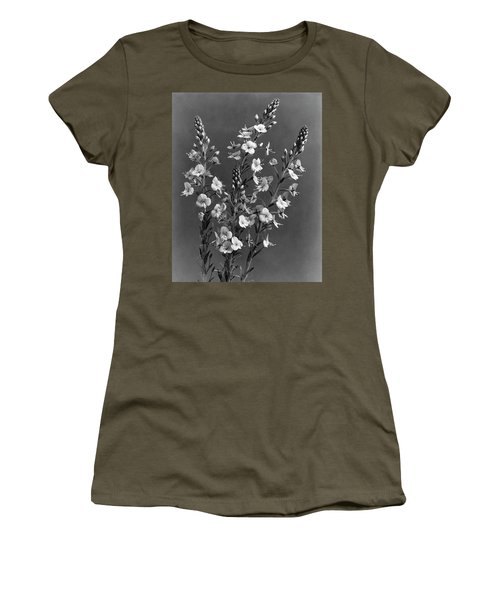 Close Up Of Gentian Speedwell Flowers Women's T-Shirt