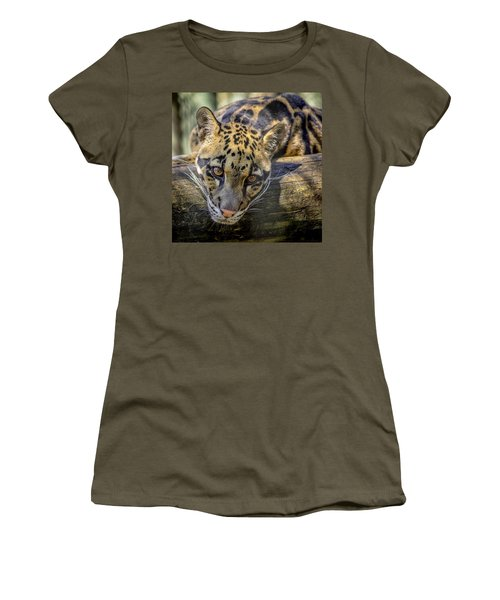 Women's T-Shirt (Athletic Fit) featuring the photograph Clouded Leopard by Steven Sparks