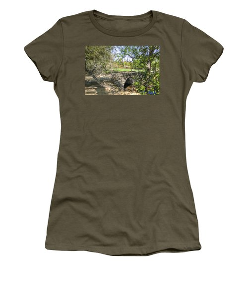 Clover Valley Park Bridge Women's T-Shirt (Junior Cut) by Jim Thompson