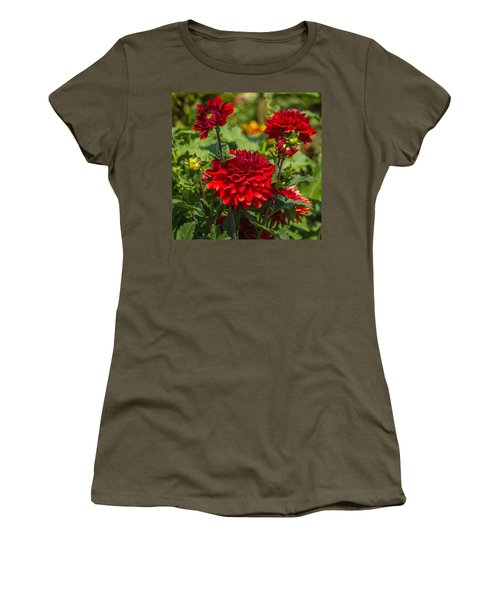 Cluster Of Dahlias Women's T-Shirt (Athletic Fit)