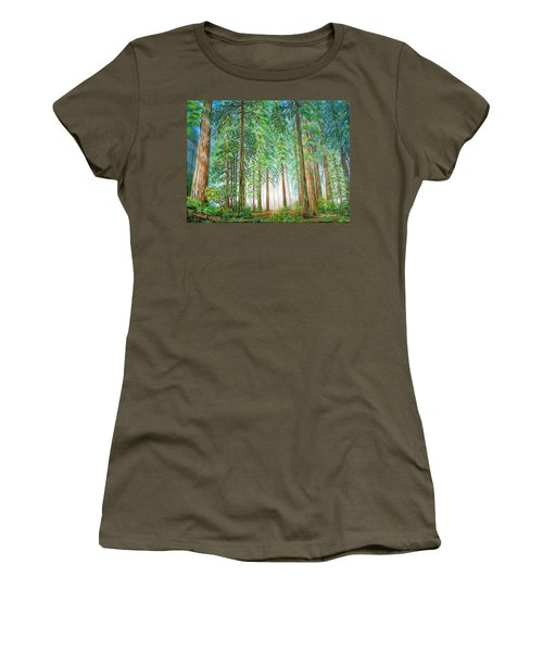 Coastal Redwoods Women's T-Shirt (Athletic Fit)