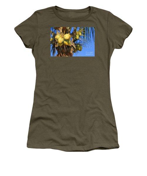 Women's T-Shirt (Junior Cut) featuring the photograph Coconut 2 by Teresa Zieba