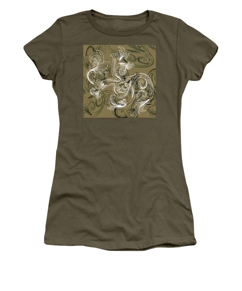 Coffee Flowers 2 Olive Women's T-Shirt