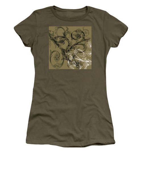 Coffee Flowers 3 Olive Women's T-Shirt