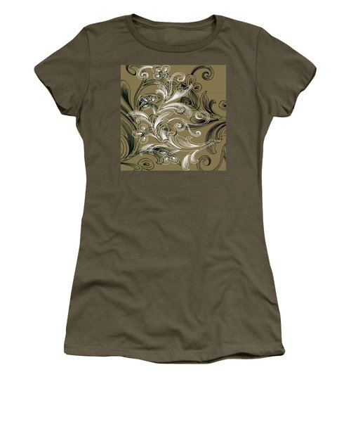 Coffee Flowers 4 Olive Women's T-Shirt