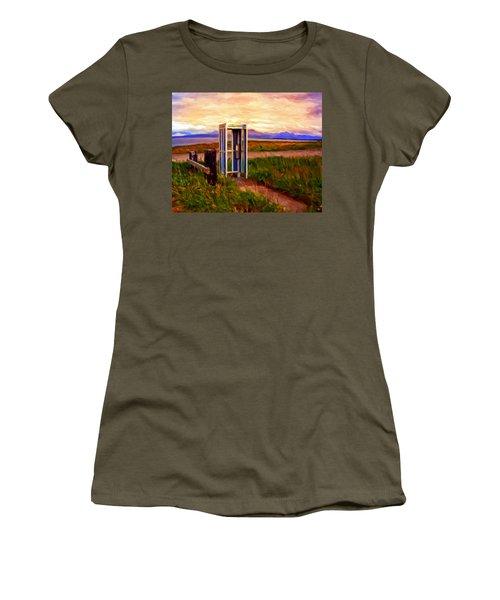 Cold Bay Ferry Service Women's T-Shirt (Junior Cut) by Michael Pickett