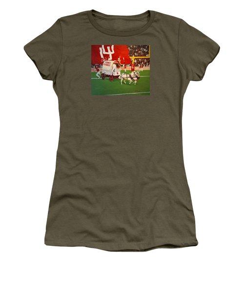 College Football In America Women's T-Shirt (Junior Cut) by Alan Lakin