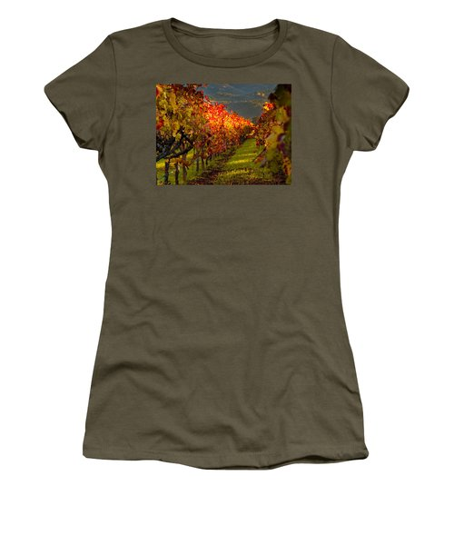 Color On The Vine Women's T-Shirt (Junior Cut) by Bill Gallagher