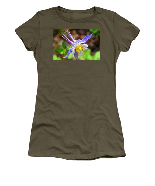 Colorado Blue Columbine Flower Women's T-Shirt (Athletic Fit)