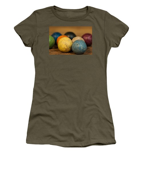 Colored Clay Marbles Women's T-Shirt