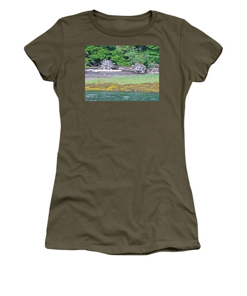 Colors Of Alaska - Layers Of Greens Women's T-Shirt