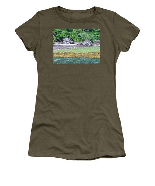 Colors Of Alaska - Layers Of Greens Women's T-Shirt