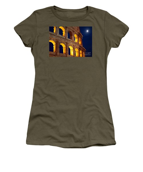 Colosseum And Moon Women's T-Shirt