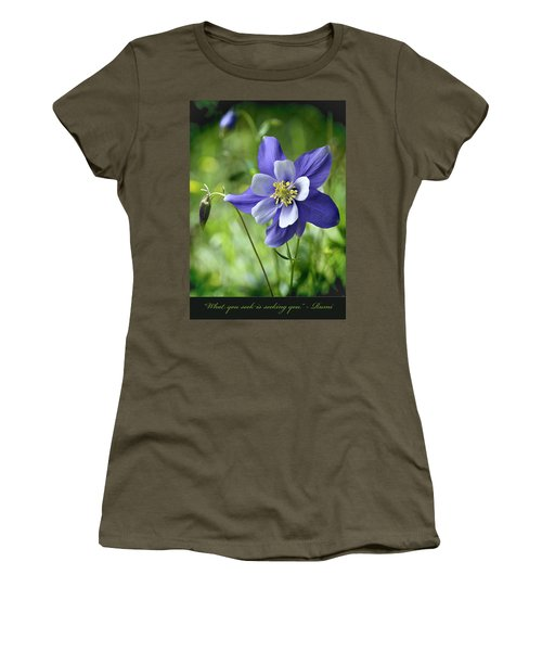 Columbine Card  Women's T-Shirt (Junior Cut)