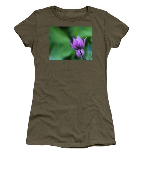 Columbine Flower Bud Women's T-Shirt (Junior Cut) by Kathy Eickenberg