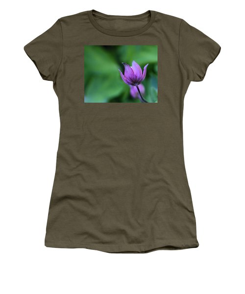 Columbine Flower Bud Women's T-Shirt (Athletic Fit)