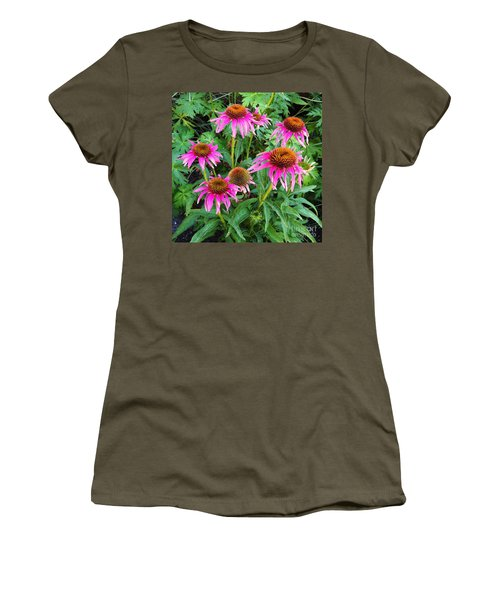 Women's T-Shirt (Junior Cut) featuring the photograph Comely Coneflowers by Meghan at FireBonnet Art