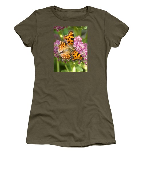 Comma Butterfly Women's T-Shirt (Junior Cut) by Richard Thomas