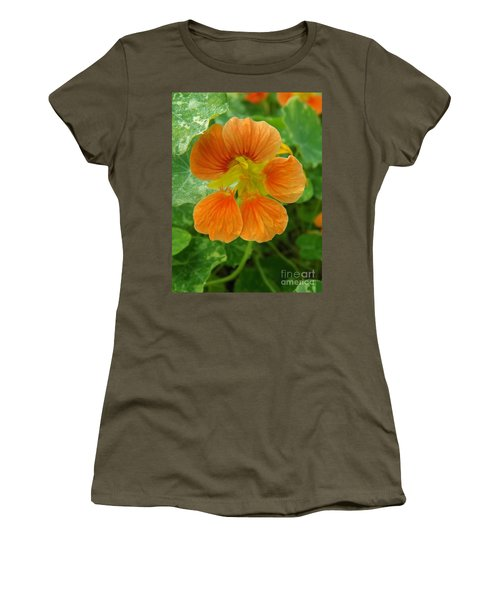 Common Nasturtium Women's T-Shirt (Junior Cut) by Sara  Raber