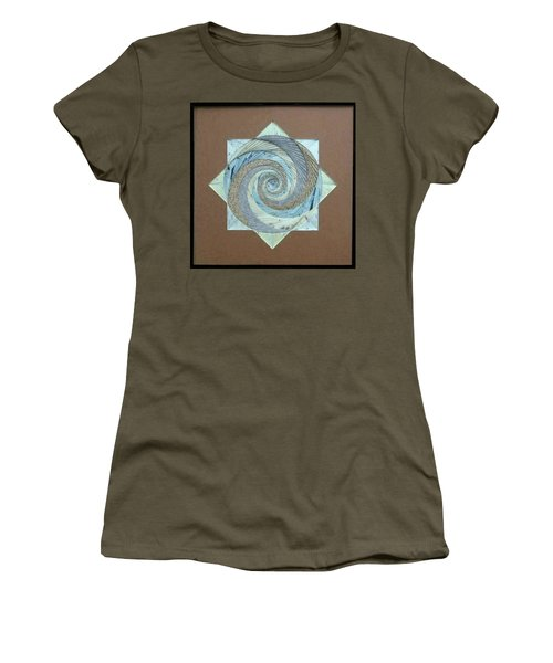 Women's T-Shirt (Junior Cut) featuring the mixed media Compass Headings by Ron Davidson