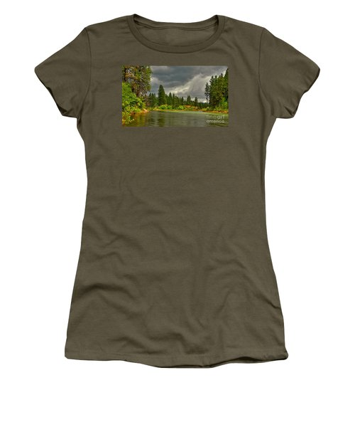 Women's T-Shirt (Junior Cut) featuring the photograph Confluence by Sam Rosen