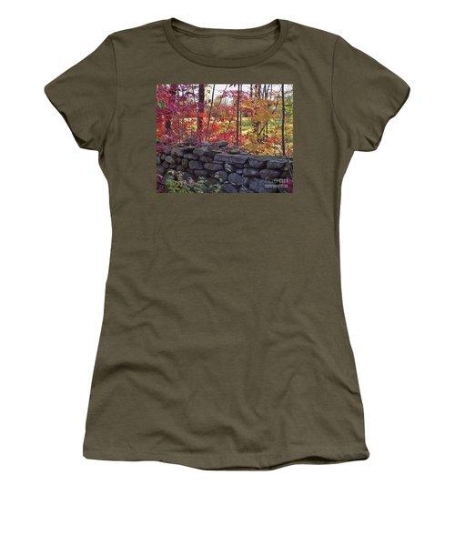 Connecticut Stone Walls Women's T-Shirt (Athletic Fit)