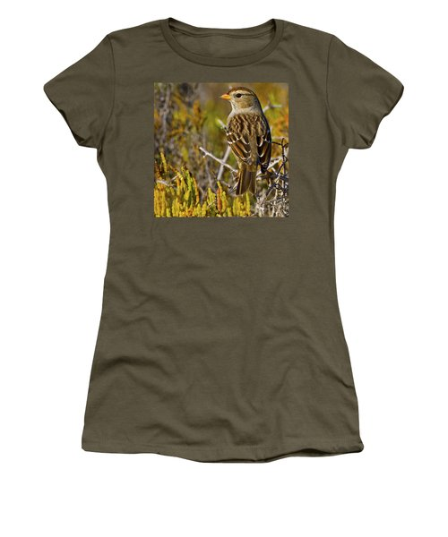 Women's T-Shirt (Junior Cut) featuring the photograph Contemplating The Day by Gary Holmes