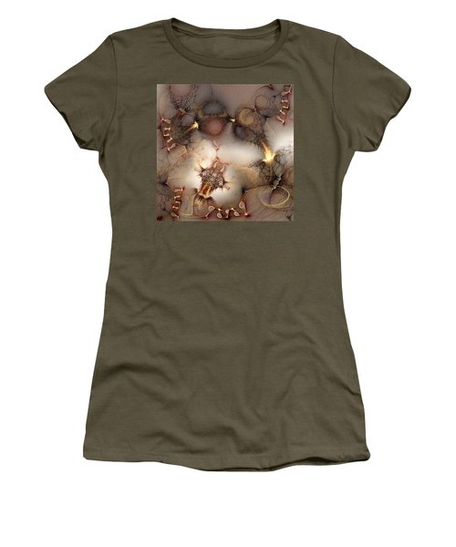 Women's T-Shirt (Junior Cut) featuring the digital art Controversy by Casey Kotas