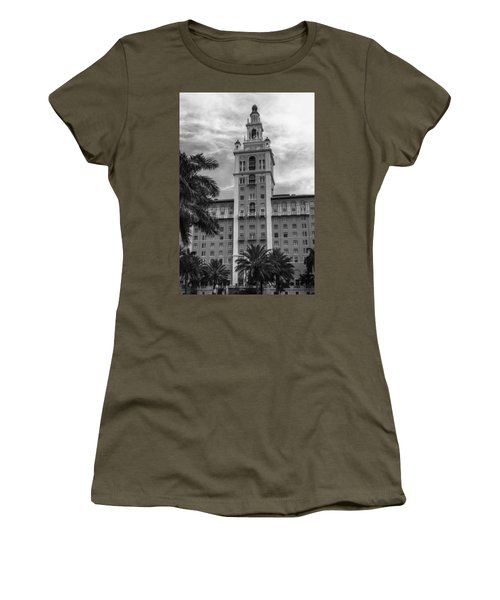 Coral Gables Biltmore Hotel In Black And White Women's T-Shirt