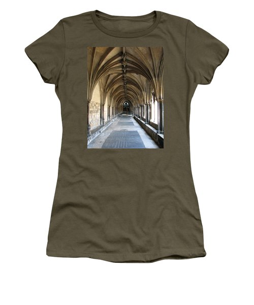 Women's T-Shirt (Junior Cut) featuring the photograph Corridor Of Arches by Stephanie Grant