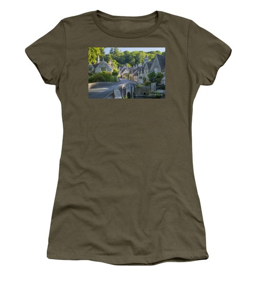 Women's T-Shirt featuring the photograph Cotswold Village by Brian Jannsen