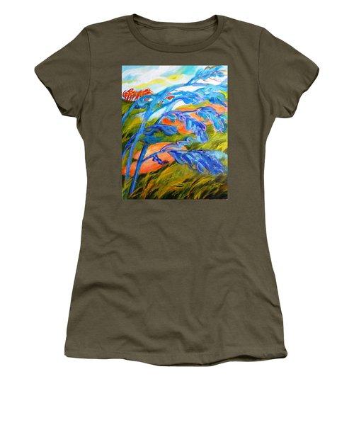 Count The Wind Women's T-Shirt (Athletic Fit)