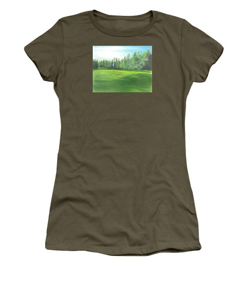 Women's T-Shirt (Junior Cut) featuring the drawing Country Club by Troy Levesque