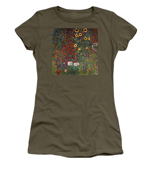 Country Garden With Sunflowers Women's T-Shirt