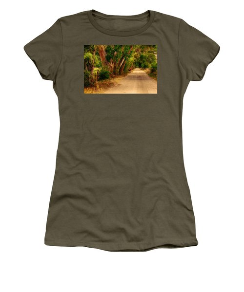 Country Road Women's T-Shirt (Junior Cut) by Fred Larson