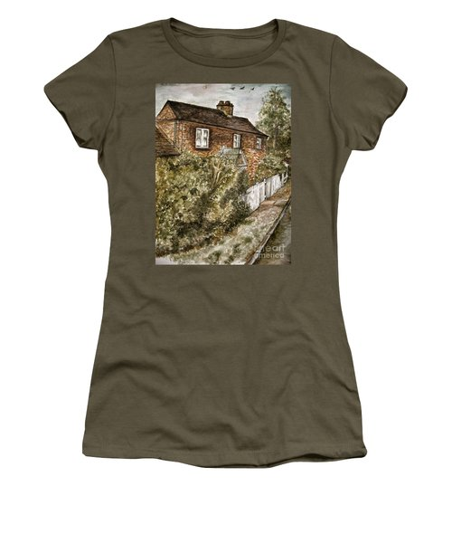 Old English Cottage Women's T-Shirt (Junior Cut) by Teresa White