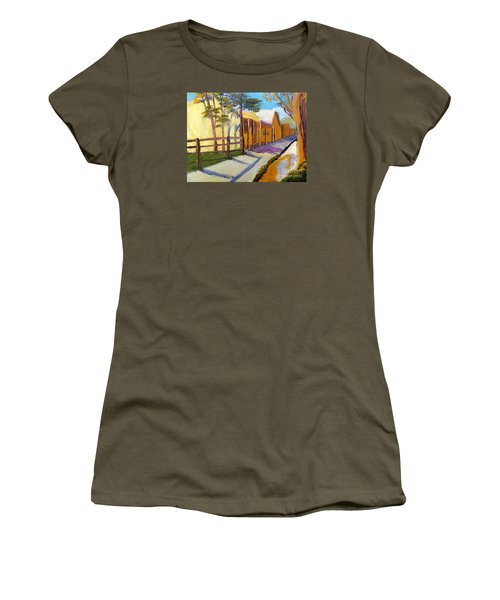 Country Village Women's T-Shirt (Athletic Fit)