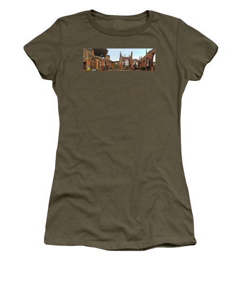 Coventry Cathedral Ruins Panorama Women's T-Shirt