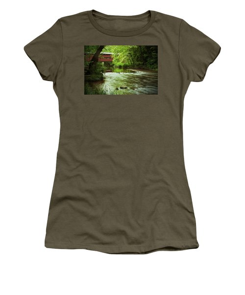 Covered Bridge Over French Creek Women's T-Shirt (Athletic Fit)