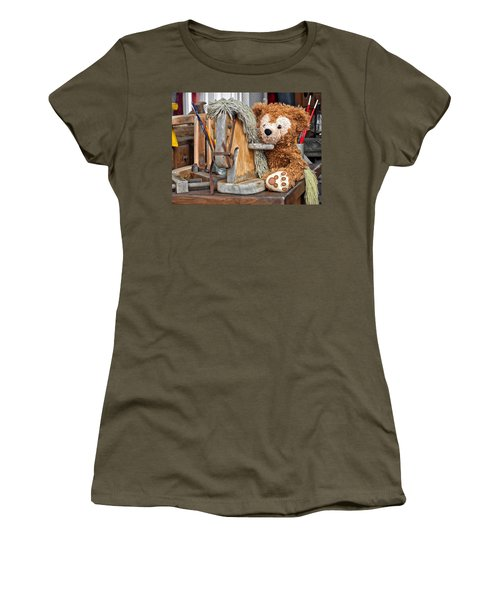 Women's T-Shirt (Junior Cut) featuring the photograph Cowboy Bear by Thomas Woolworth