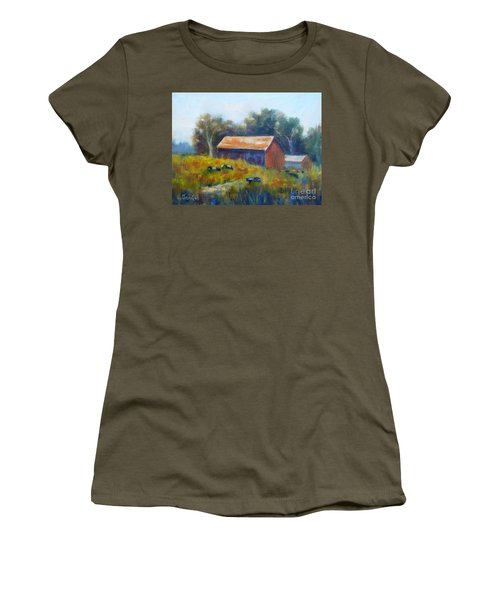 Cows By The Barn Women's T-Shirt