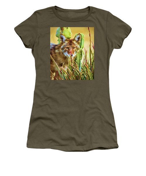 Coyote In The Aloe Women's T-Shirt (Athletic Fit)
