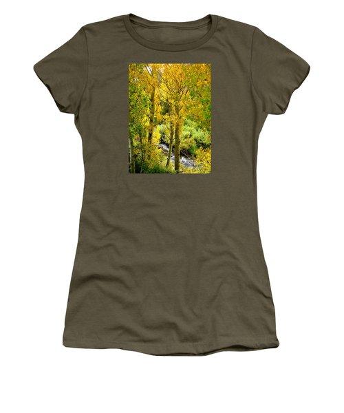 Creekside Women's T-Shirt (Junior Cut) by Marilyn Diaz